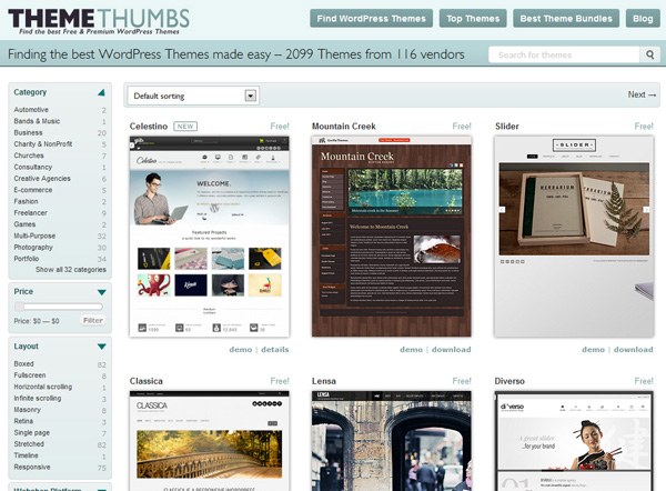 gratis wordpress themes