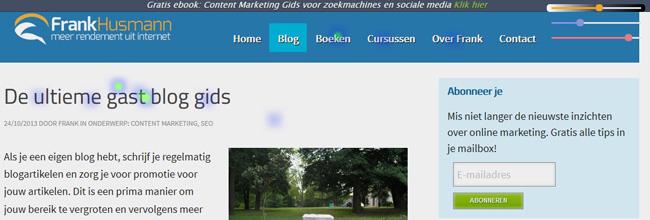 yandex metrica clickmap voorbeeld