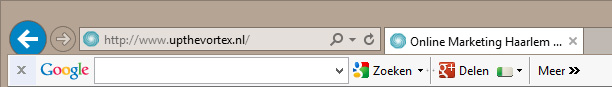 Google Pagerank toolbar voorbeeld