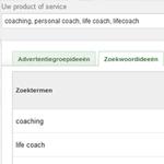 zoekwoorden onderzoek met google keyword planner