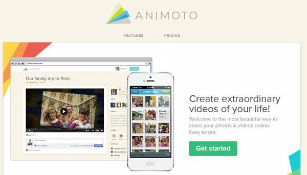 animoto screenshot online video