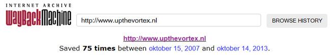 Leeftijd website internet archive